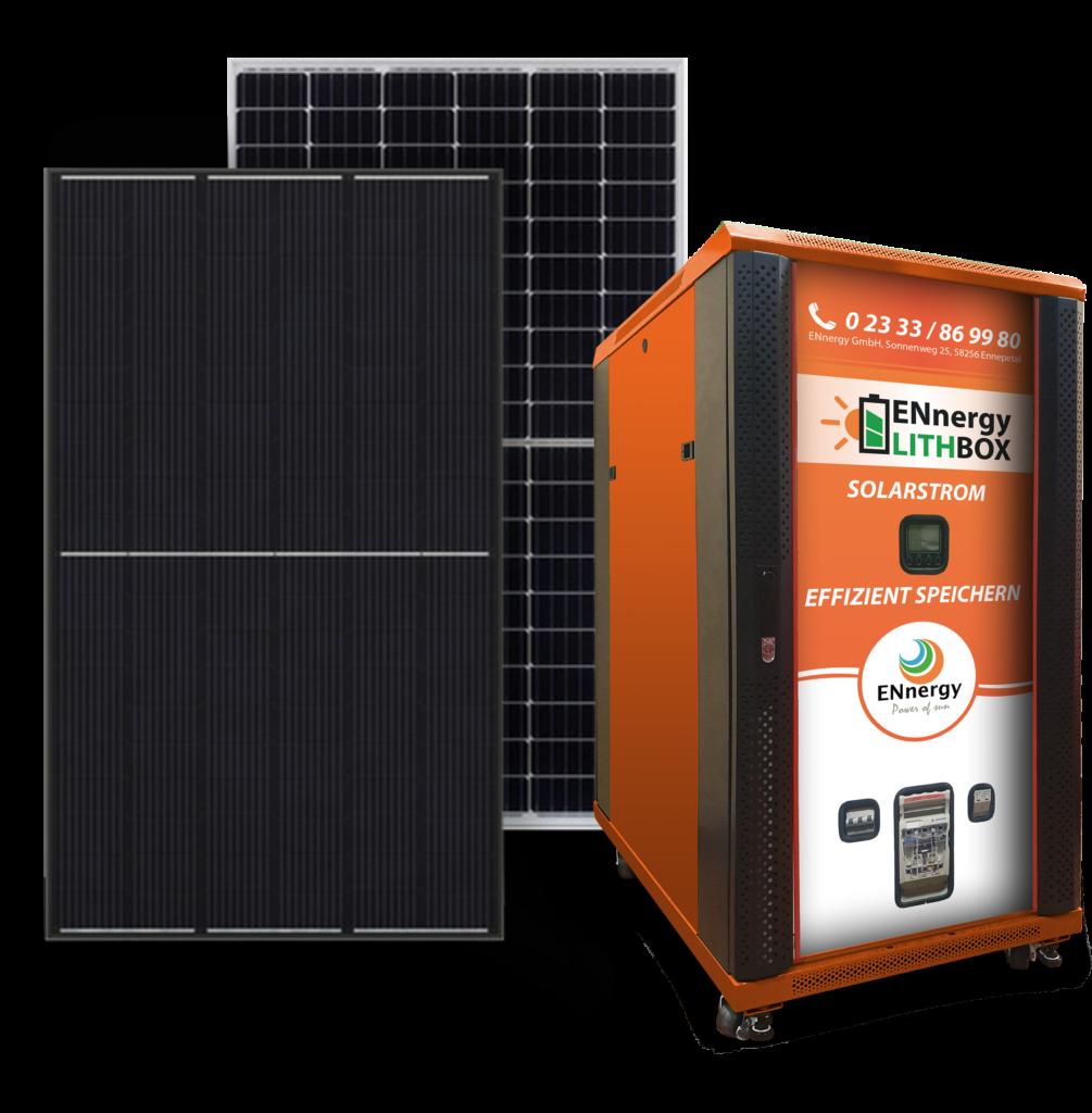 Stromspeicher mit Photovoltaikmodulen
